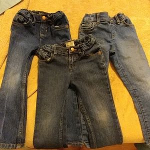The Place Set of 3 Toddler Girl's Blue Jeans